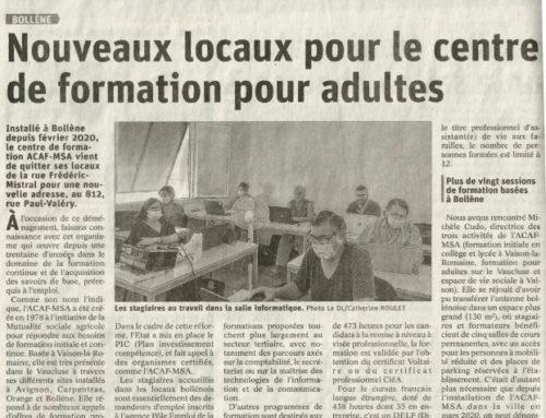 Nouveaux locaux pour un centre de formation pour adultes
